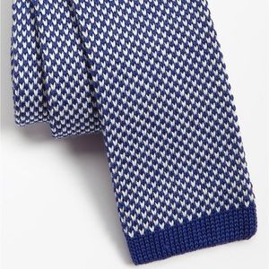 Public Opinion Knitted Cotton Square Skinny Tie